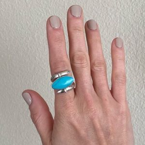Sterling silver reversible ring